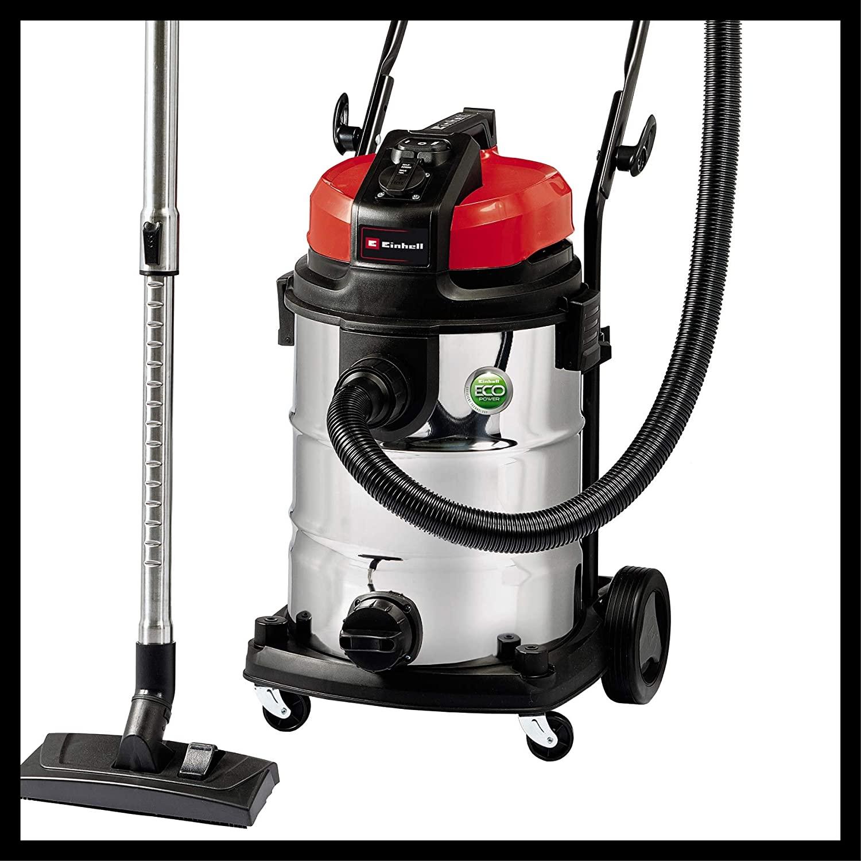 Einhell Expert 2342363 Aspirador seco liquido TE-VC 2230 SA de tipo industrial, 1150 W, 30 L, color plateado
